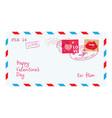 valentine letter in envelope vector image