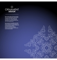 Wallpaper in the oriental style of Baroque vector image