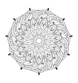 Zentangle stylized elegant round Indian Mandala vector image vector image