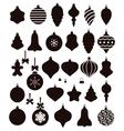 christmas ball shapes vector image