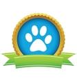 Gold animal logo vector image