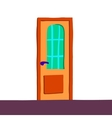 cartoon abstract door icon vector image