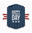 Happy Presidents Day blue Banner with Ribbon vector image