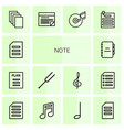 14 note icons vector image vector image