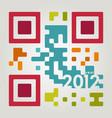 2012 qr code vector image vector image