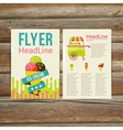 Abstract Brochure Flyer design template stylish vector image