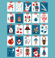 advent calendar winter christmas numbers cute vector image vector image