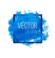 Blue Watercolor Blot In Square Frame vector image vector image