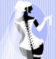 bride in a corset vector image vector image