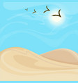 bright hot desert landscape background vector image vector image
