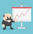 Business show graph growing up vector image vector image
