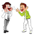 businessmen making funny faces vector image