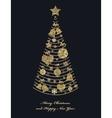 Christmas fir tree with toys vector image