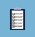 clipboard with checklist icon vector image