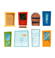 closed doors of different types vector image vector image