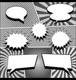 comic book monochrome template vector image vector image