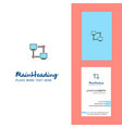 computer networks creative logo and business card vector image vector image