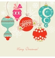 cute christmas balls vector image vector image