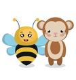 cute couple stuffed animals vector image