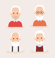 cute grandfathers avatars characters vector image