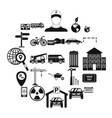 device icons set simple style vector image vector image