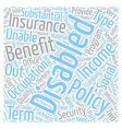 Disability Insurance Online text background vector image vector image
