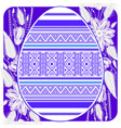 easter egg card template with ethnic pattern vector image vector image