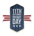 eleventh september patriot day banner vector image