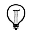 figure power bulb light and energy electricity vector image vector image