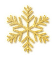 gold glitter texture snowflake isolated on white vector image vector image