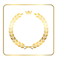 Gold laurel wreath crown golden vector image vector image