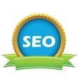 Gold seo logo vector image