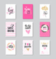 greeting cards for happy mother day holiday vector image vector image
