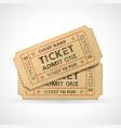 grunge cinema tickets vector image vector image