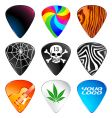 guitar picks vector image vector image