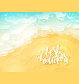 hand lettering summer inspirational label vector image vector image