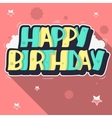 Happy Birthday Greeting Card Graffiti Style Label