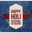 Happy Holi Festival of Color realistic Card vector image