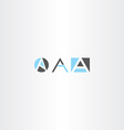 letter a logo set gray blue icon vector image