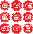 Limited time offer red label Limited time offer vector image vector image