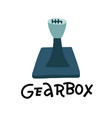 mechanic gearbox icon flat mechanic gearbox vector image