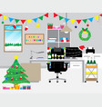 Merry christmas - decoration in the office vector image