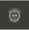 music production new york city label vector image