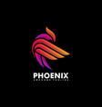 phoenix multicolored concept design vector image vector image