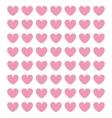 pink cartoon heart pattern vector image