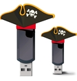 Pirate USB flash drive vector image vector image