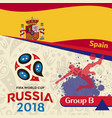 russia 2018 wc group b spain background vector image