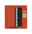 safe metal opened box safety box cash secure vector image vector image