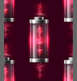 seamless texture with batteries vector image vector image