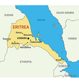 State of Eritrea - map vector image